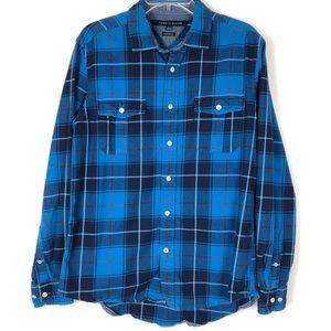 Men's Tommy Hilfiger plaid flannel shirt